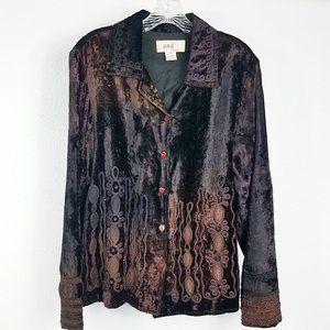 Anii Embroidered Jeweled Lined Women's Coat Jacket
